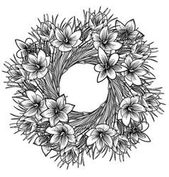 Graphic saffron wreath vector