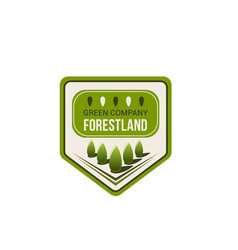 Green nature eco park badge with ecology tree vector