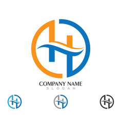 H letter logo business template vector