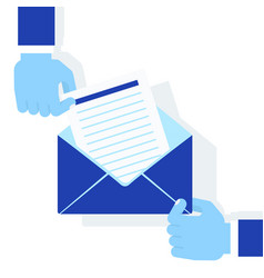 Hands holding envelope vector
