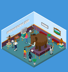 Historical museum isometric vector