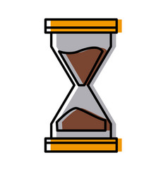 hourglass antique timer vector image