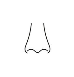 Human nose with nostrils vector