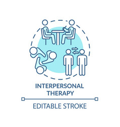 Interpersonal therapy concept icon vector