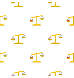 Justice scales pattern seamless vector