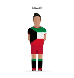 Kuwait football player Soccer uniform vector image