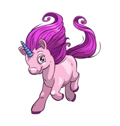 Little cute cartoon fantasy unicorn vector image vector image