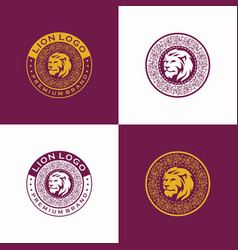 luxury lion logo vector image