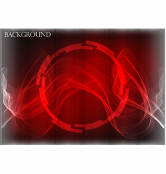 many fine lines on a red background vector image