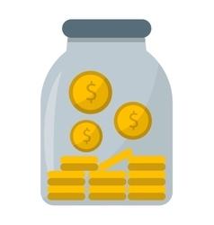 Money jar vector image