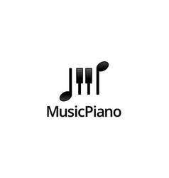 music piano logo design concept vector image