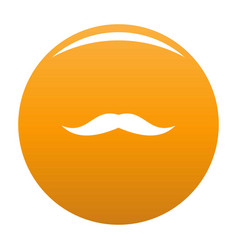 Neat mustache icon orange vector