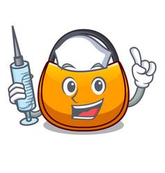 Nurse beautifully hobo bag on character funny vector