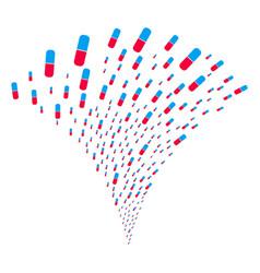 Pill fountain stream vector