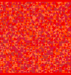 polygonal red triangle mosaic pattern background vector image
