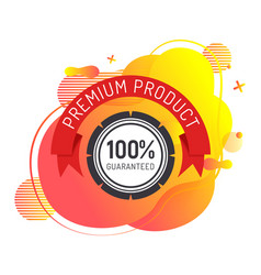 Premium product label quality badge isolated icon vector