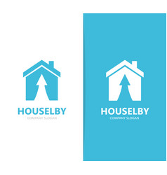 Real estate and arrow up logo vector