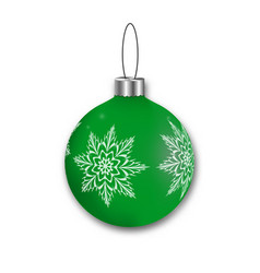 realistic shiny hanging christmas ball template vector image
