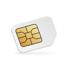 realistic sim card mockup blank cellular phone vector image