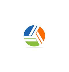 round circle shape colorful logo vector image