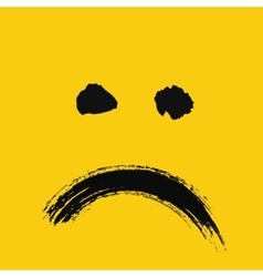 Sad emoticon painted vector