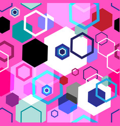 seamless bright geometric pattern diamonds vector image