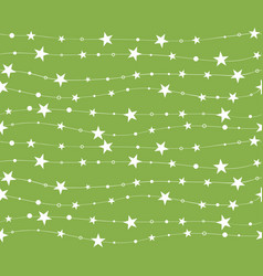 seamless pattern with stars and dots holiday vector image