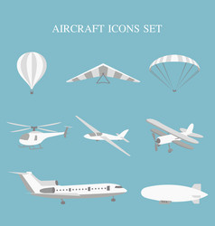 Set airplanes vector