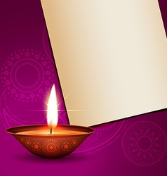 Shiny diwali design vector