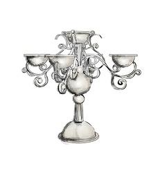 Silver candelabrum vector