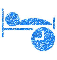 sleep time grunge icon vector image