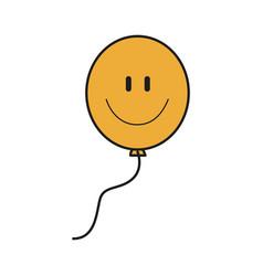 Smile balloon decoration festive icon design vector
