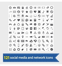 Social media and network icons vector
