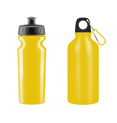 sports water bottles on white background il vector image