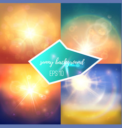 St of summer backgrounds vector