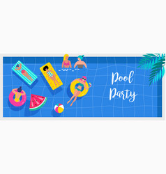 top view beach background pool party summer vector image