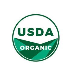 Usda organic food stamp vector