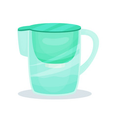 Water filter pitcher with handle glass jug for vector