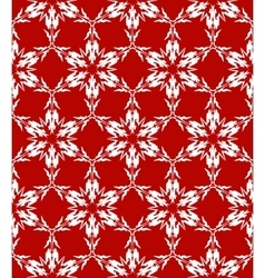 White snowflakes pattern vector