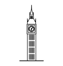 london big ben linear vector image vector image