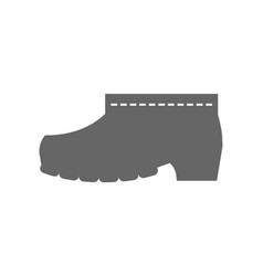 rubber boots protective shoes flat icon or vector image vector image