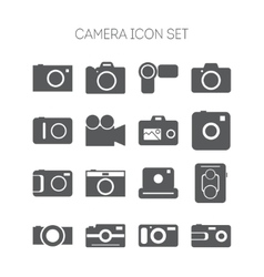 Set of simple icons with cameras for web design vector image vector image