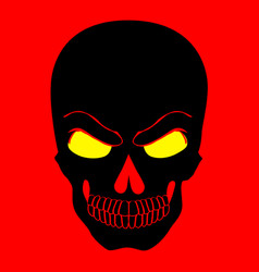 simple web icon in skull red background vector image vector image