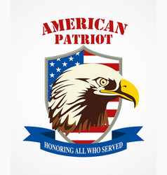 american patriot coat of arms vector image vector image