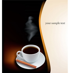 desing with coffee vector image vector image