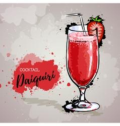 Hand drawn cocktail daiquiri vector image