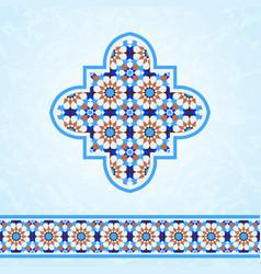moroccan mosaic design elements vector image vector image