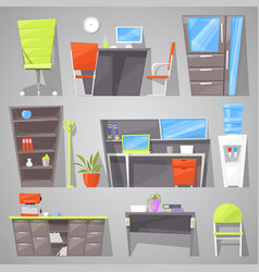 office furniture furnishings design of vector image vector image