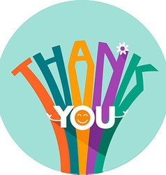 thank you in a flat style vector image
