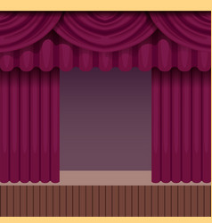 Vintage theater scene background with purple vector